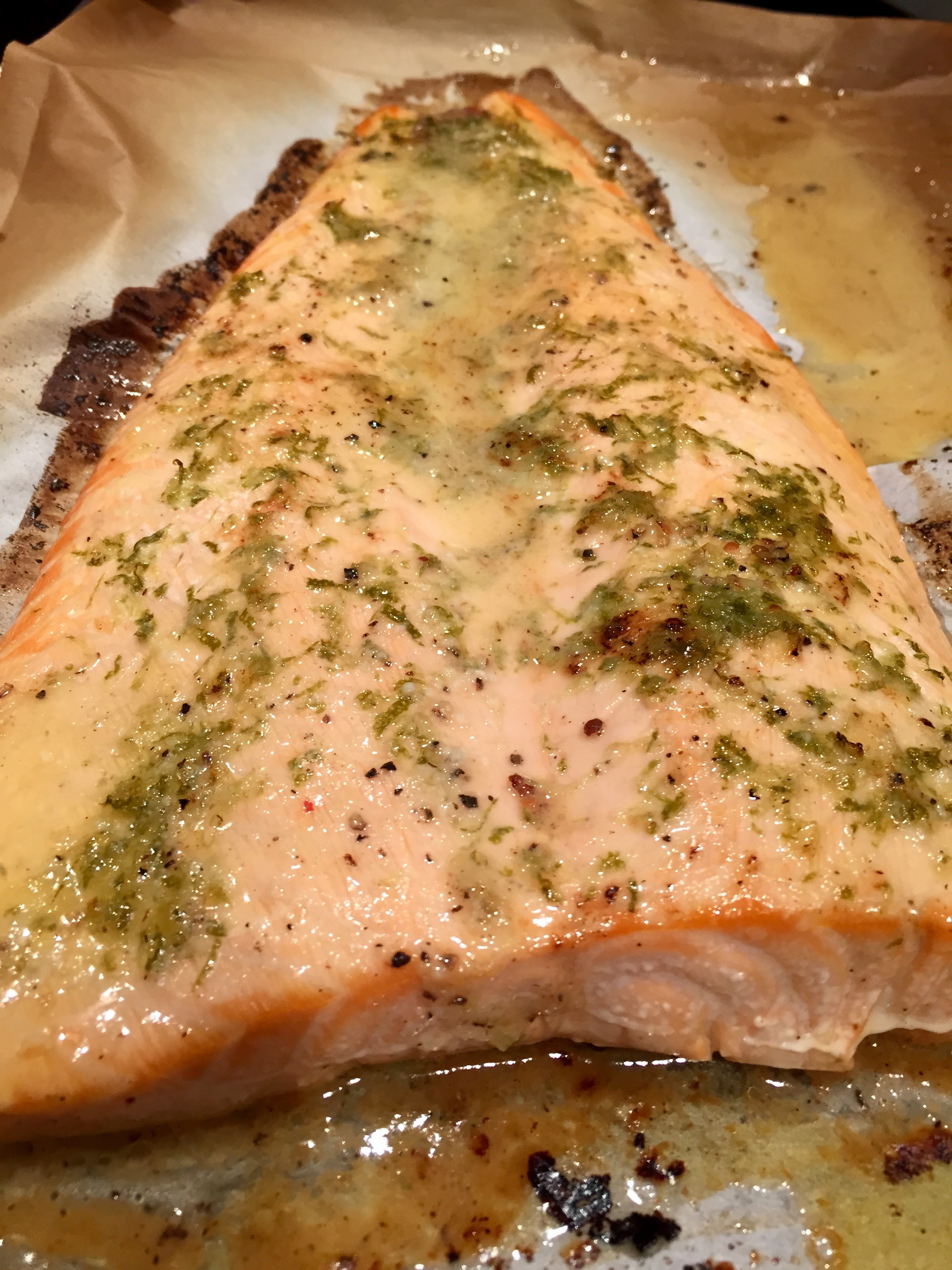 Grilled Salmon With Lime Butter Sauce Recipe — Dishmaps