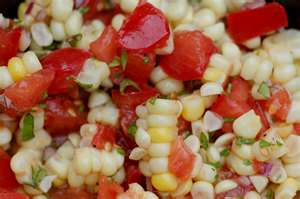 Summer Tomato and Corn Salad with Basil