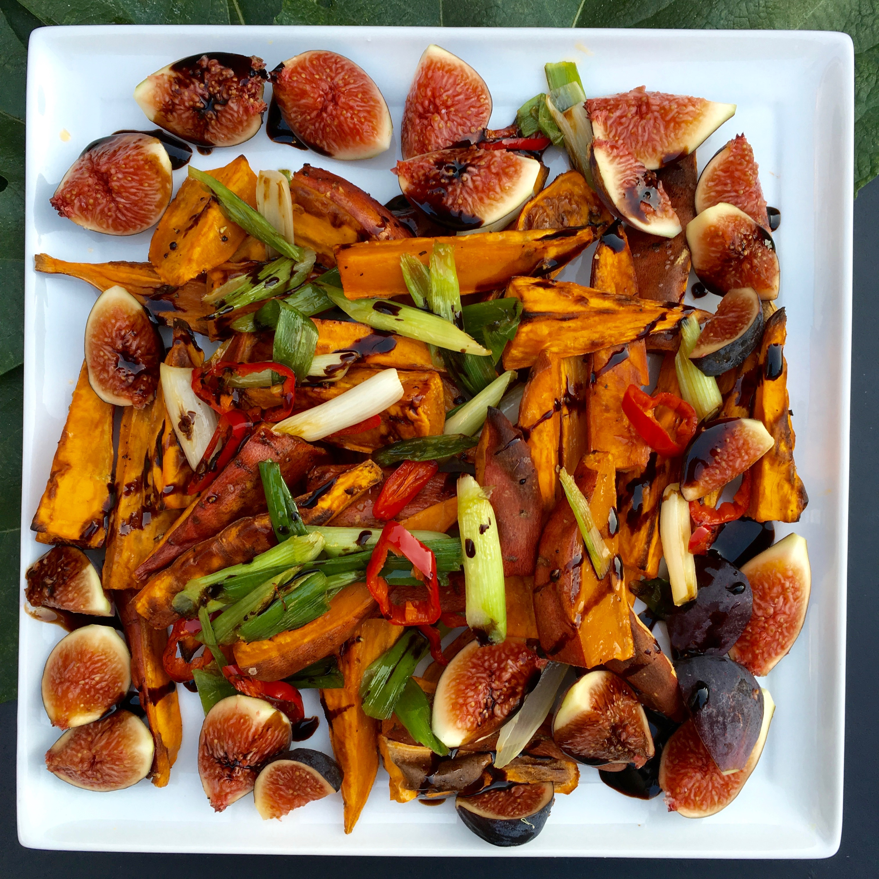 Roasted Sweet Potatoes & Fresh Figs Recipe — Dishmaps