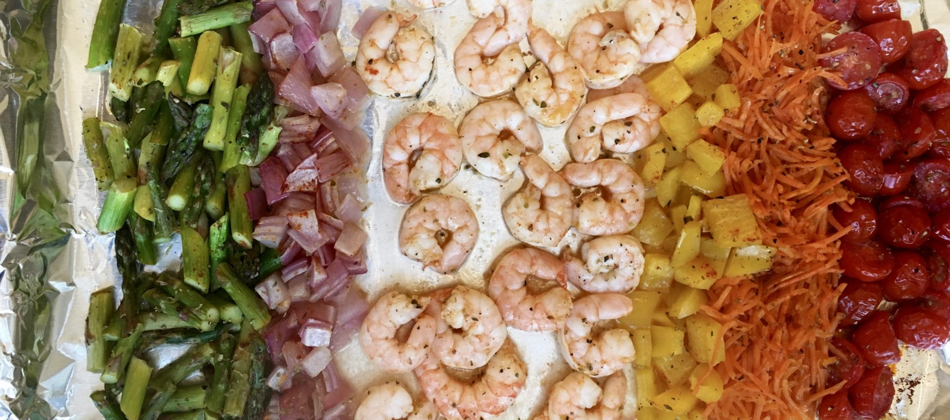 Roasted Shrimp And Vegetable Salad With Chili Lime